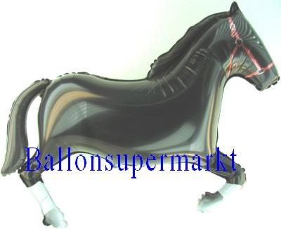 Pferd Luftballon, schwarzer Hengst