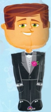 Airwalker Folienballon Hochzeit Bräutigam