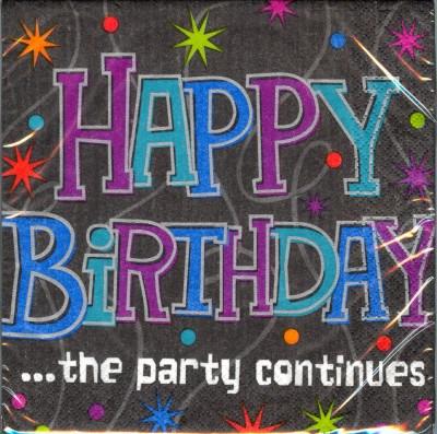Geburtstag Deko Servietten Geburtstagsparty