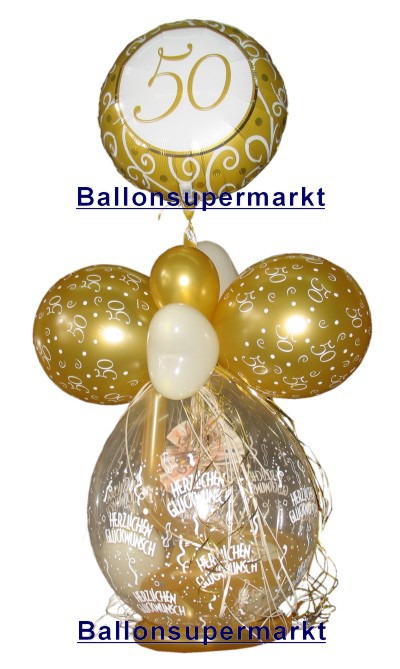 Ballonsupermarkt geschenkballon goldene for Dekoration zur goldenen hochzeit