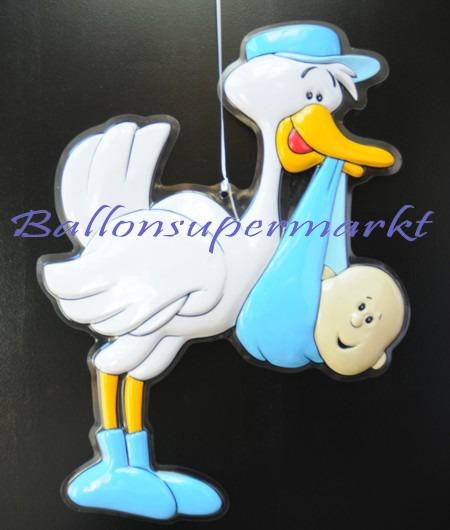 Deko-Feier-Geburt-Taufe-Storch-Junge