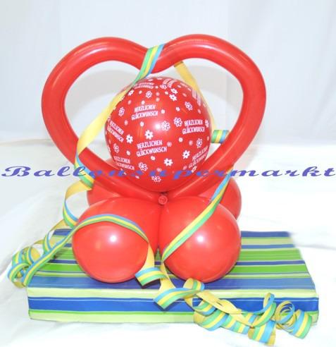 Geburtstagsherz-Ballons