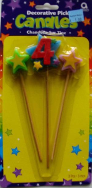 Geburtstagskerze Geburtstagszahl 4