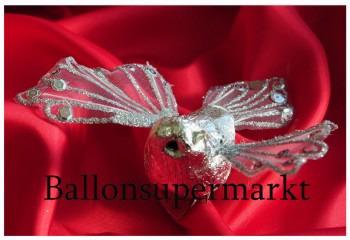 Taube Silber, Dekoration Silberne Hochzeit