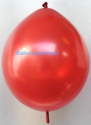 Girlandenballon-Kettenballon-Rot-Metallicfarben