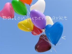 Herzballons Blau