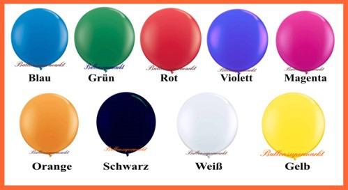 Riesenballons, 600er, Farben