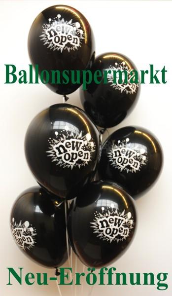 Luftballons-zur-neu-Eröffnung-Farbe-Schwarz