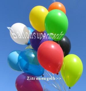 Luftballons Zitronengelb