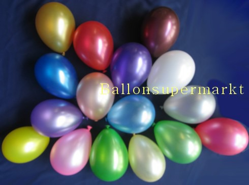 Luftballons Mini in Metallic.Farben