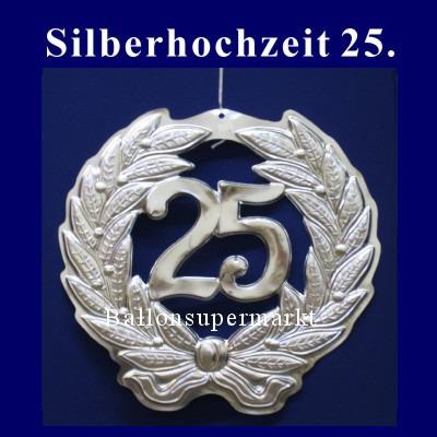 Dekoration Silberne Hochzeit Dekohänger Zahl 25