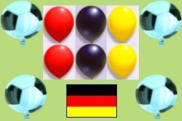 Dekoration Fußball mit Luftballons und Helium