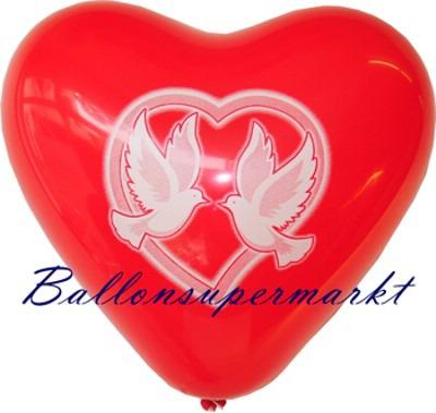 Ballons-Helium-Set-Herzluftballons-Friedenstauben
