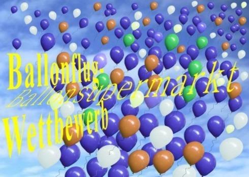 Ballonflug-Wettbewerb-Ballonmassenstart-Luftballons