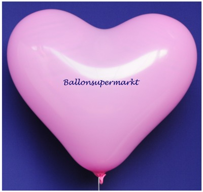 Herzluftballon, 40 bis 45 cm, Rosa