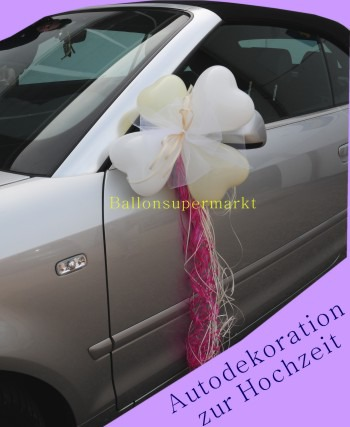 Herzluftballons-Dekoration-Hochzeitsauto