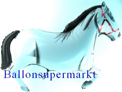 Pferd Luftballon, weisser Hengst
