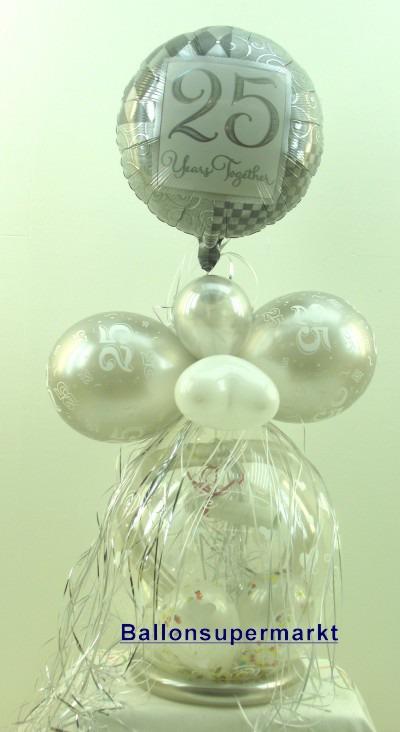 Silberne Hochzeit Geschenkballon