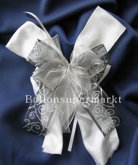 Dekoration Hochzeit, Schleifendeko