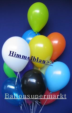 Luftballontraube Standard Rundballons Oval Himmelblau
