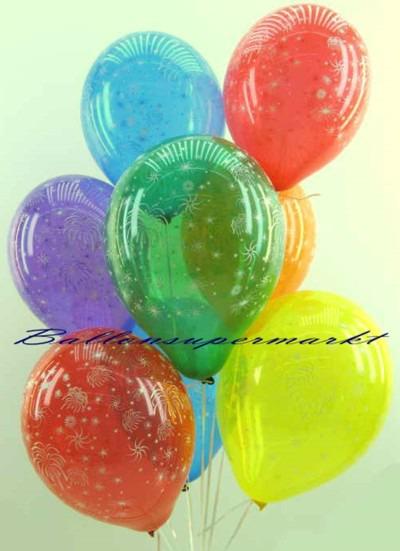 Luftballons-Silvester-Feuerwerk