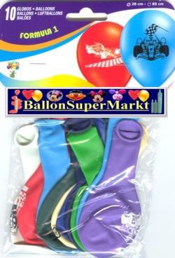 Motiv-Luftballons-Formel-1-Rennwagen