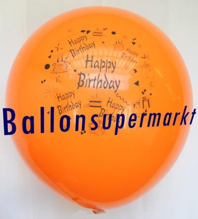 Riesen-Geburtstagsballon-Orange