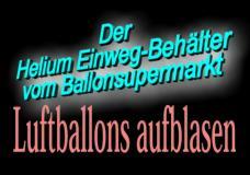 Ballonsupermarkt-Onlineshop - Aufblasen von Luftballons mit Einweg Helium, Anleitungen und Tipps