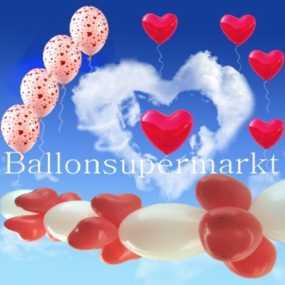 Ballons-Hochzeit-Dekoration-mit-Herzen