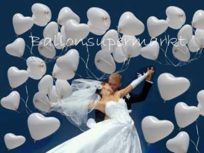 Herzluftballons zur Hochzeit