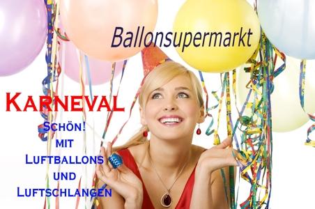 Karneval. Schön! Mit Luftballons und Luftschlangen