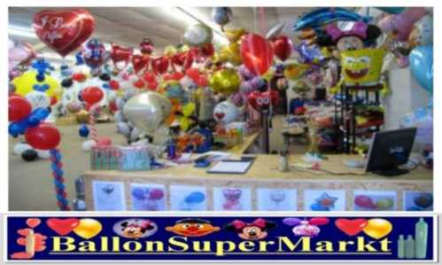 Ballonsupermarkt-Onlineshop: Herzluftballons