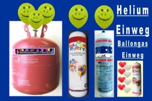 Ballongas, Helium, Einweg-Behälter, ohne Pfand