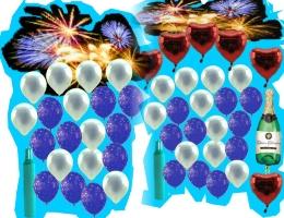 Silvester mit Ballons - Silvester mit Ballons