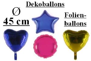 Folienballons Unbedruckt - Folienballons Unbedruckt