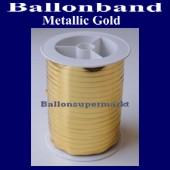 Ballonband, Luftballonbänder 1 Rolle 250 m, Metallic-Gold (Ballonband-Metallic-Gold-Rolle-M-G-01)