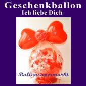 Geschenke in Ballons, Geschenkballon Ich liebe Dich