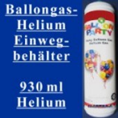 Ballongas-Helium Einwegbehälter, 930ml (Helium Einweg 930ml)