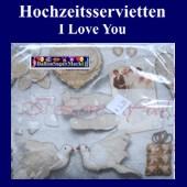 Hochzeitsservietten-I Love You (Hochzeitsservietten-Love-20988)