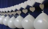 Luftballons Hochzeit, Hochzeitsgirlanden-Dekoration mit ovalen Luftballons