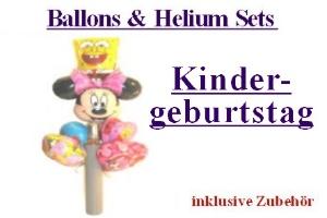 "Ballons & Helium Sets ""Kindergeburtstag"" - Ballons & Helium Sets ""Kindergeburtstag"""