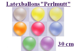 Latexballons 30cm Perlmutt - Latexballons 30cm Perlmutt