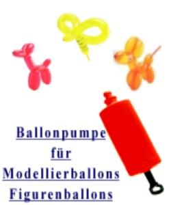 Spezielle Flach-Ballonpumpe für Figurenluftballons und Ballons zum Modellieren