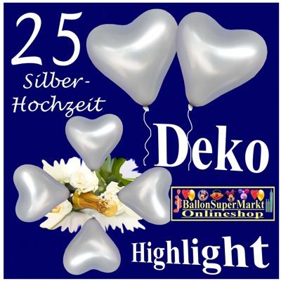 Silberhochzeit dekoration hochzeitsdeko zur silbernen - Dekoration zur silberhochzeit ...