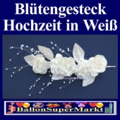 Blütengesteck-Hochzeitsdeko in Creme-Weiß (Bluetengesteck-creme-weiss-17231)