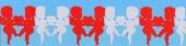 Amorgirlande / Rot-Weiß / 17cm