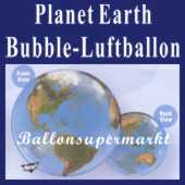 Planet Earth, Bubble Luftballon (mit Helium) (FHGE-KAE 16871-22)