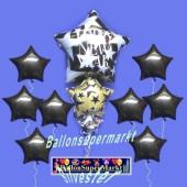 Dekoration zu Silvester mit Luftballons aus Folie