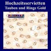 Hochzeitsservietten-Tauben-Ringe-Gold (Hochzeitsservietten-gold-20895)