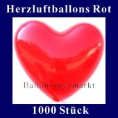 Herzluftballons Rot 1000 Stück (LHRG1000)